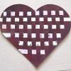 Cœur en papier tressé