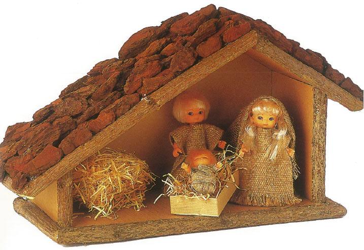 Fabriquer une cheminee en carton pour noel maison design - Comment fabriquer une creche de noel ...