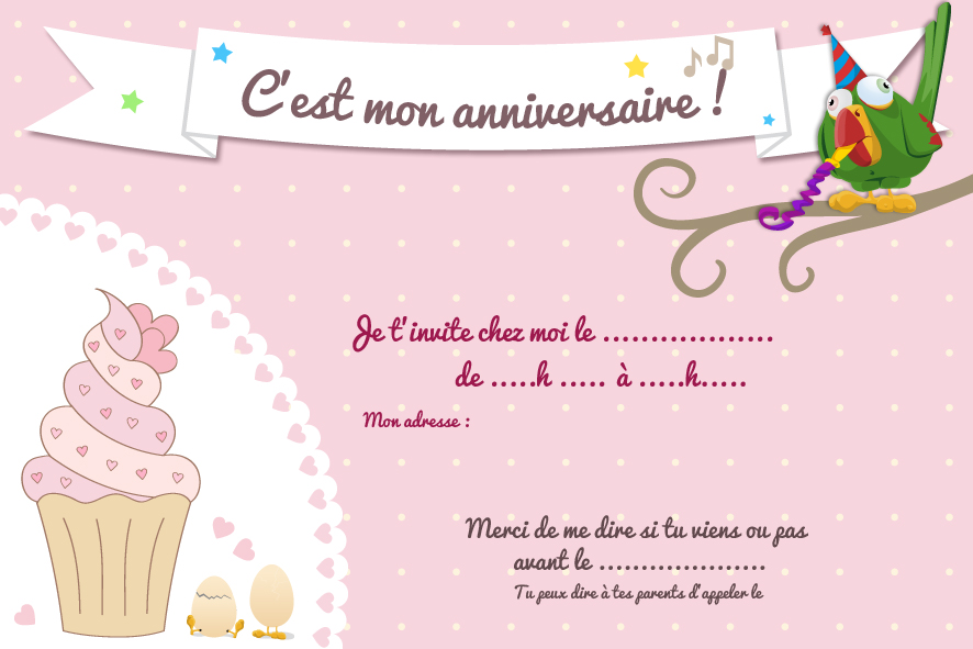 Favori Cartes d'invitation d'anniversaire à imprimer - Le club du king SP93