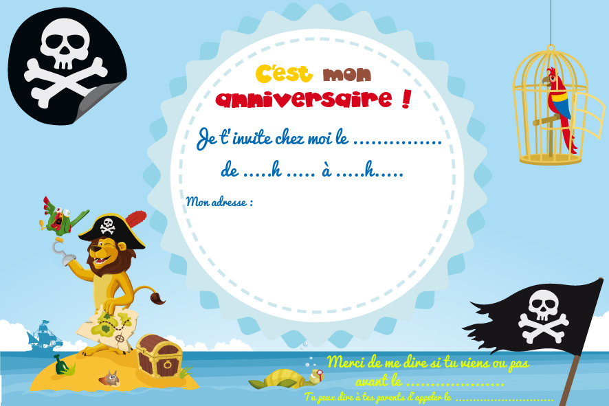 Top Cartes d'invitation d'anniversaire à imprimer - Le club du king FT24