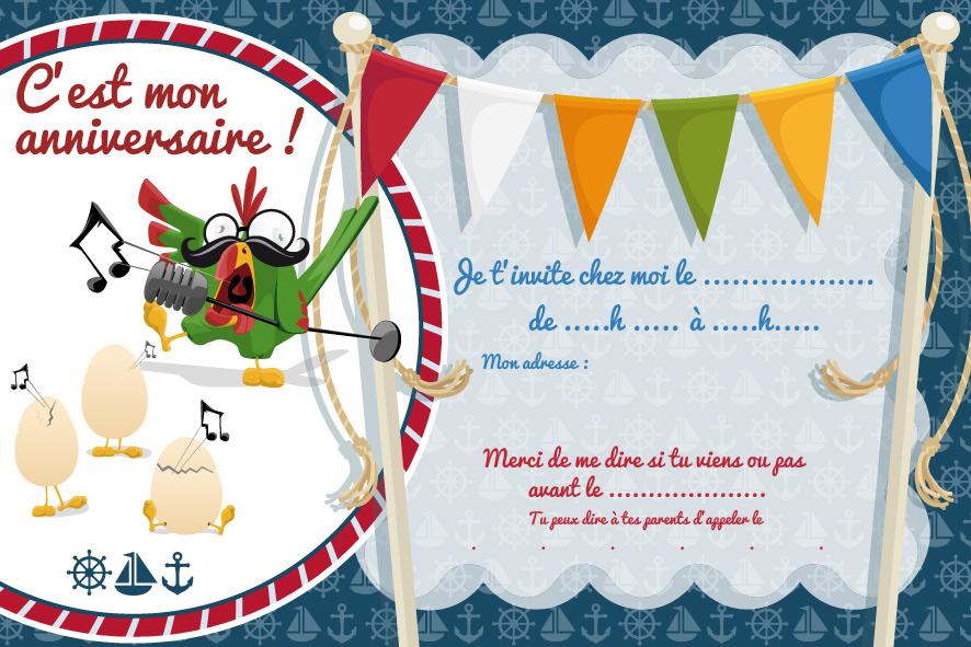 Exceptionnel Cartes d'invitation d'anniversaire à imprimer - Le club du king RD71