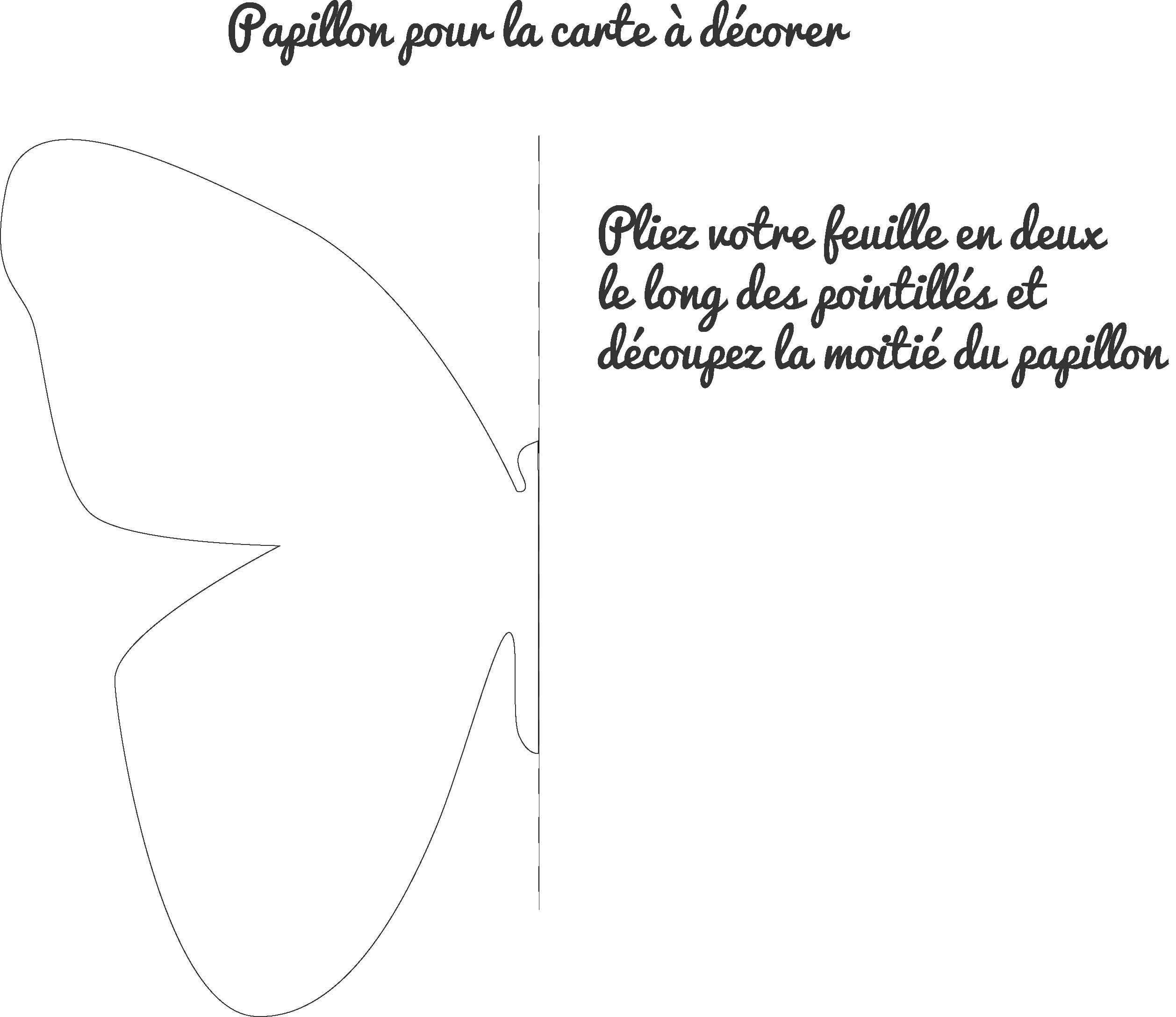 Souvent Carte d'invitation en forme de papillon - Le club du king IO89