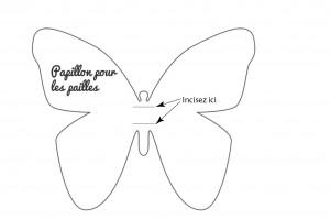 Gabarit paille papillon